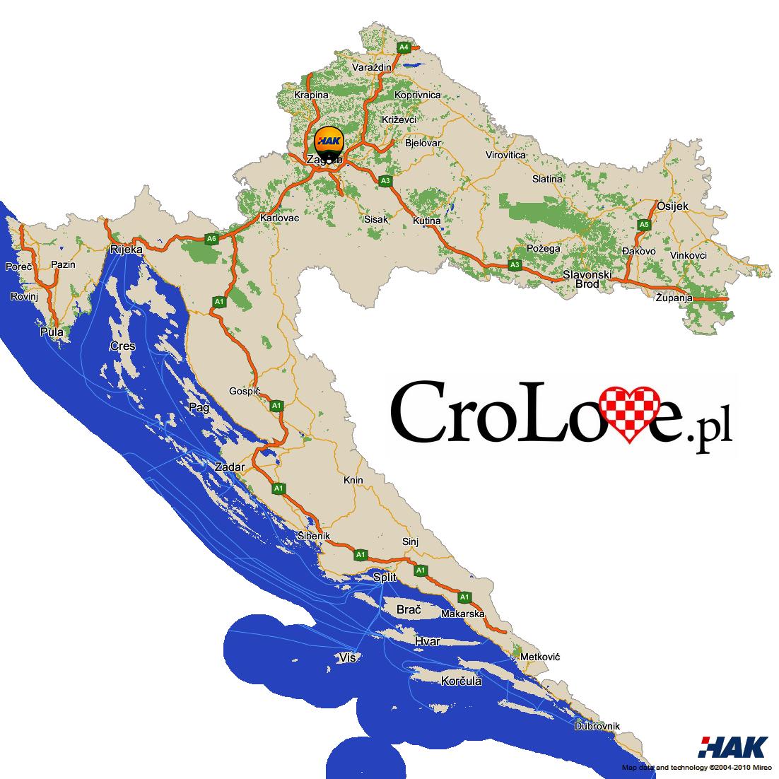 Autostrady w Chorwacji