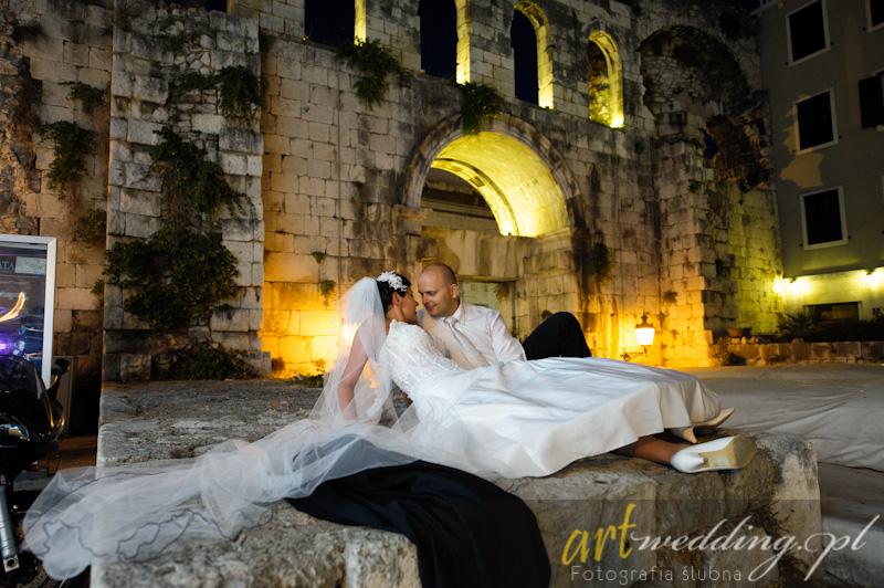 Plener Ślubny w Chorwacji - Split - Pałac Dioklecjana