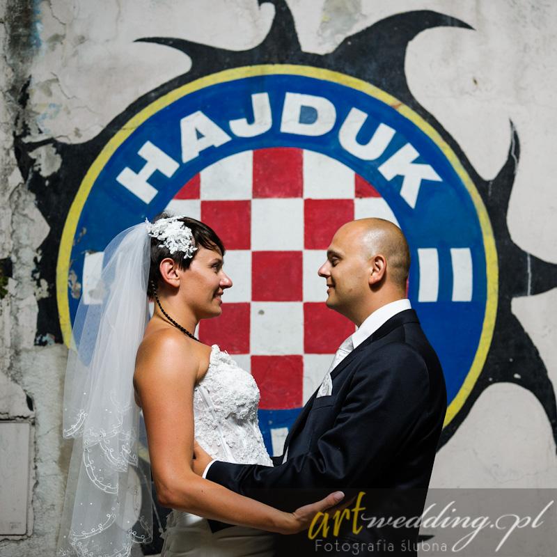 Plener Ślubny w Chorwacji - Split - Pałac Dioklecjana - Hajduk Split