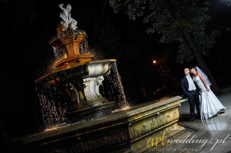 Plener Ślubny w Chorwacji - Split - Fontanna