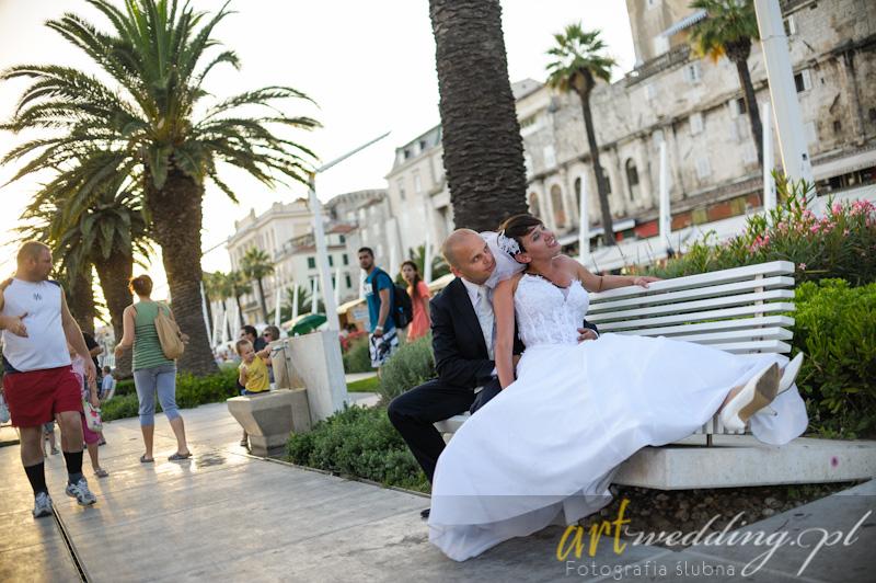 Plener Ślubny w Chorwacji - Split - Deptak