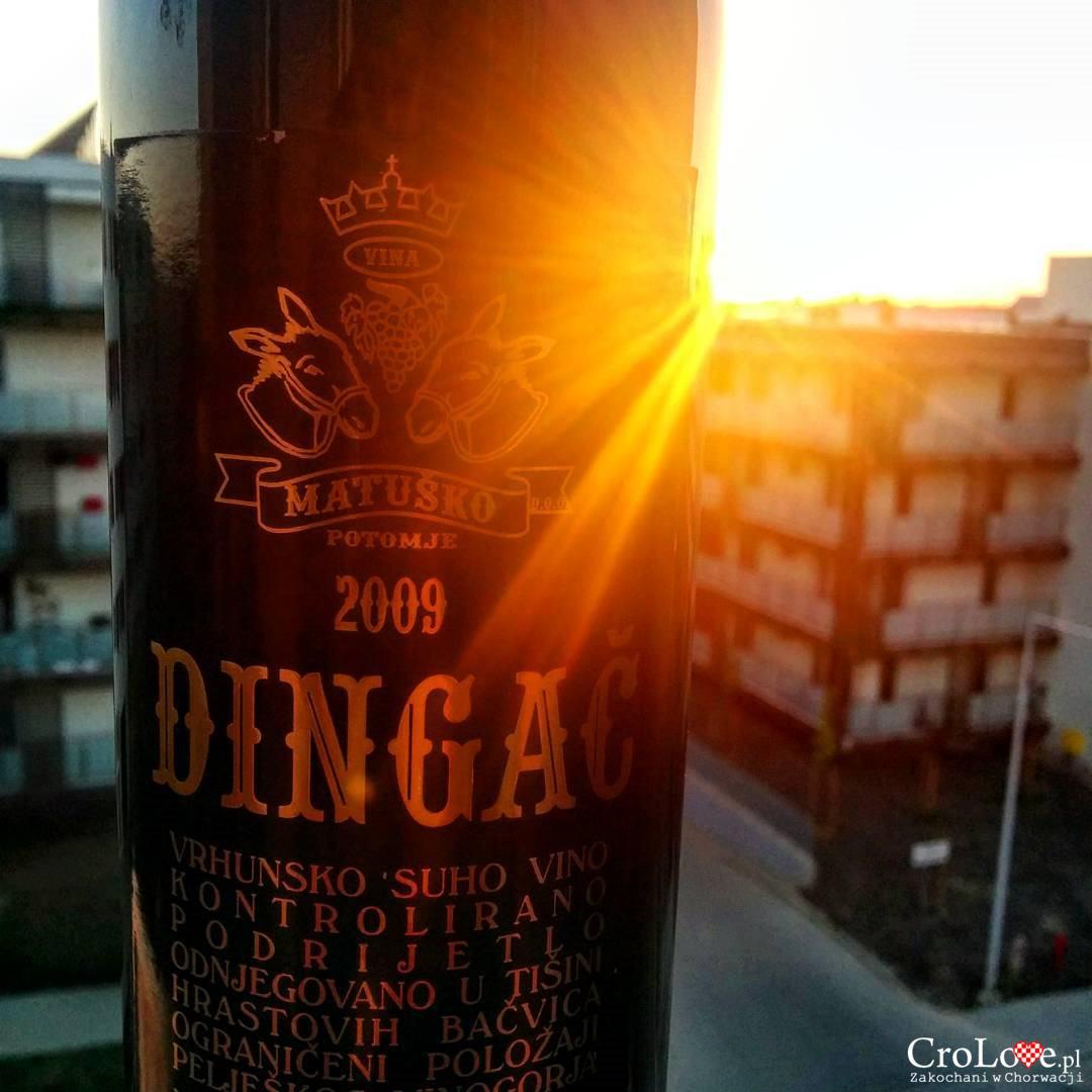 Wino Dingač z winnicy państwa Matuško