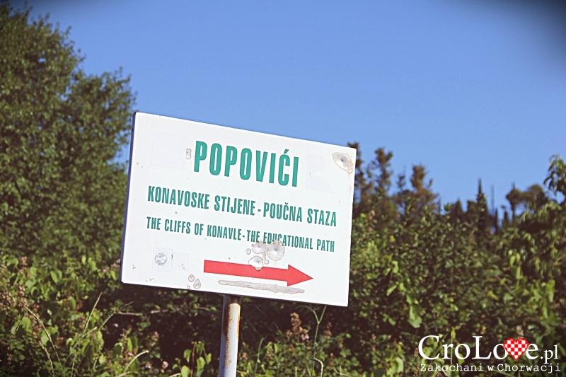 Droga do Konavoske Stijene w Popovići