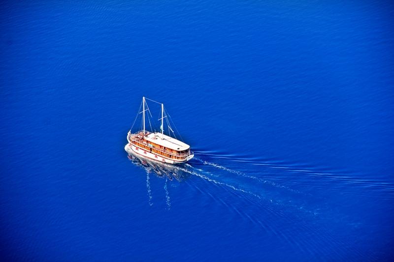 Statek w Omišu
