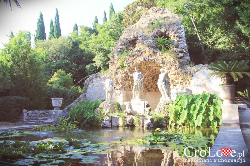 Fontanna Neptuna w Arboretum Trsteno