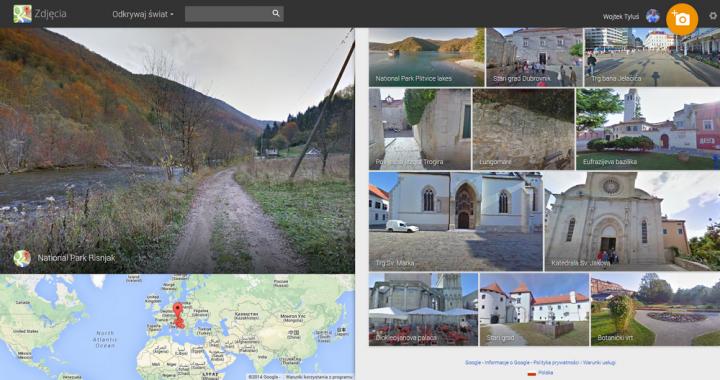 Spacery po Chorwacji z Google Street View
