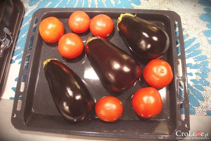 Bakłażany i pomidory