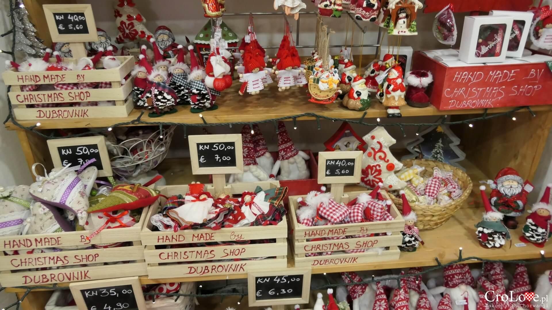Sklep świąteczny w Dubrowniku