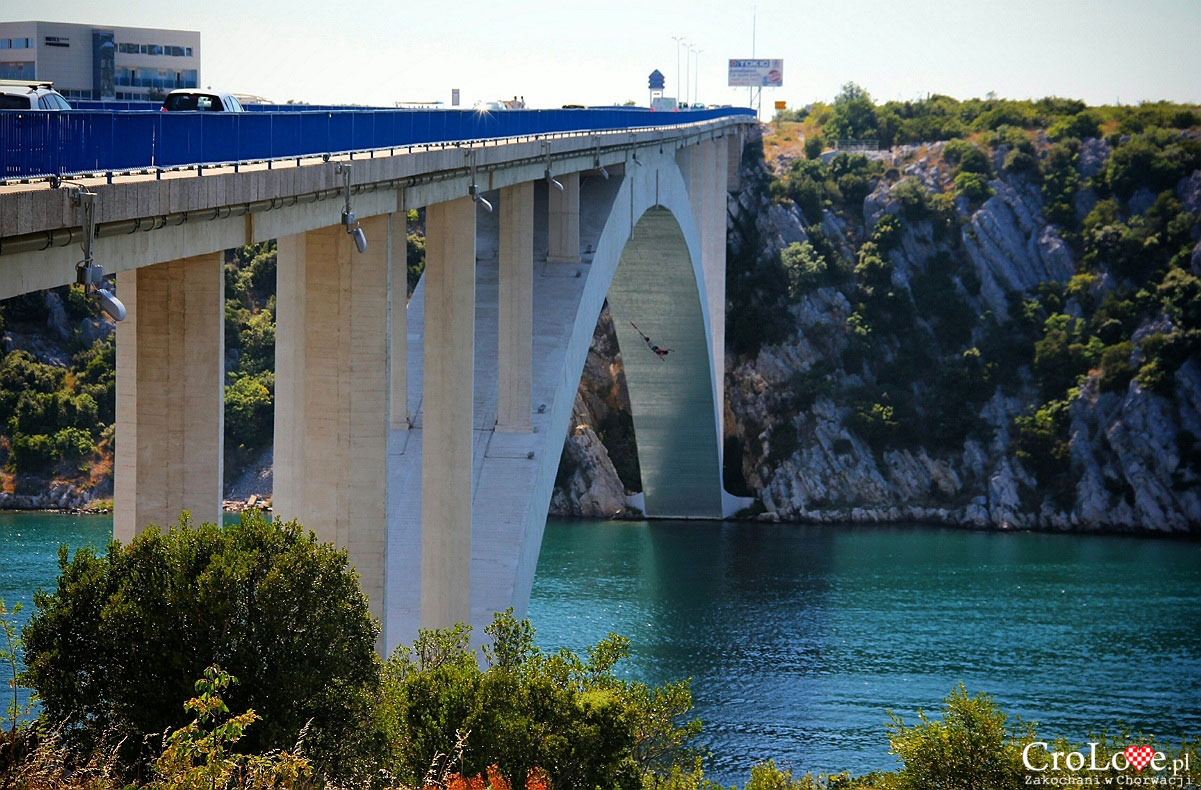 Šibenicki most, miejsce skoków Bungy