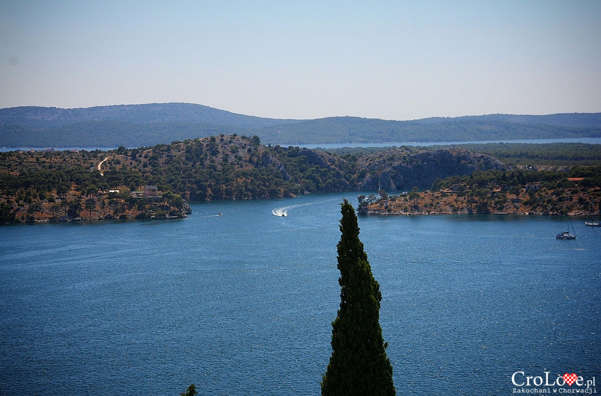 Widok na zatokę z twierdzy św. Michała w Šibeniku