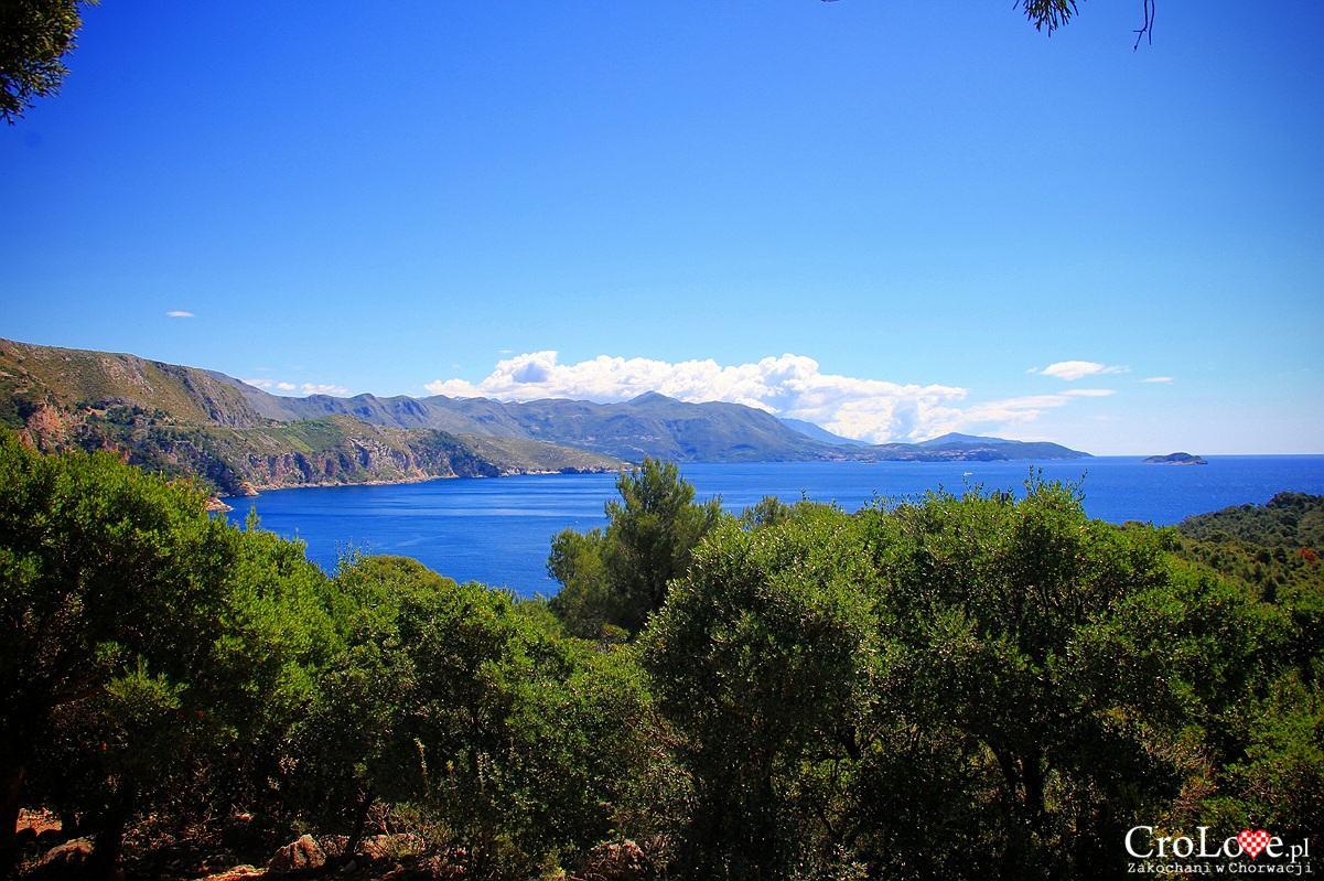 Widok na Cavtat z Fortu Royal na wyspie Lokrum