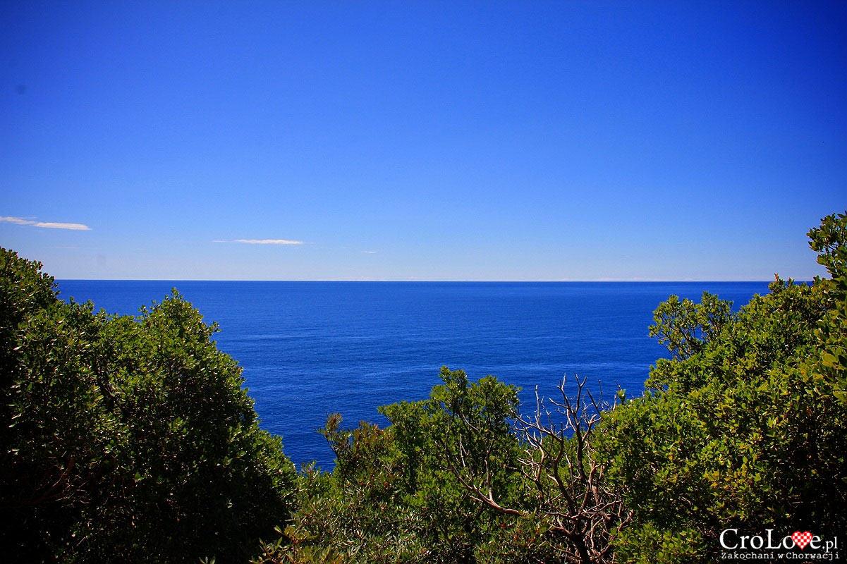 Widok na Adriatyk z wyspy Lokrum