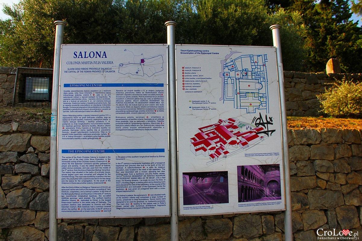 Plan centrum diecezjalnego w Salonie