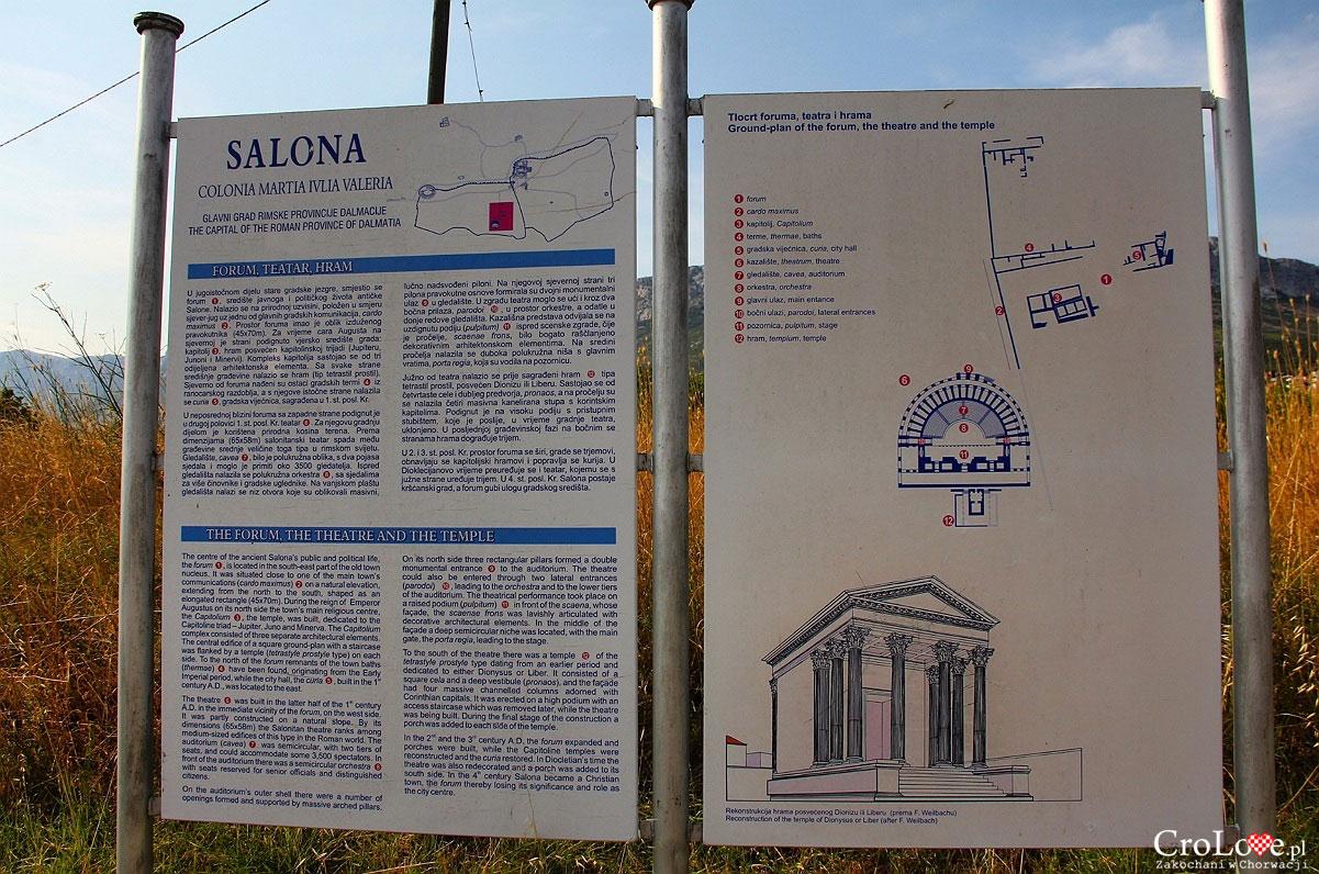 Plan forum, teatru oraz świątyni w Salonie