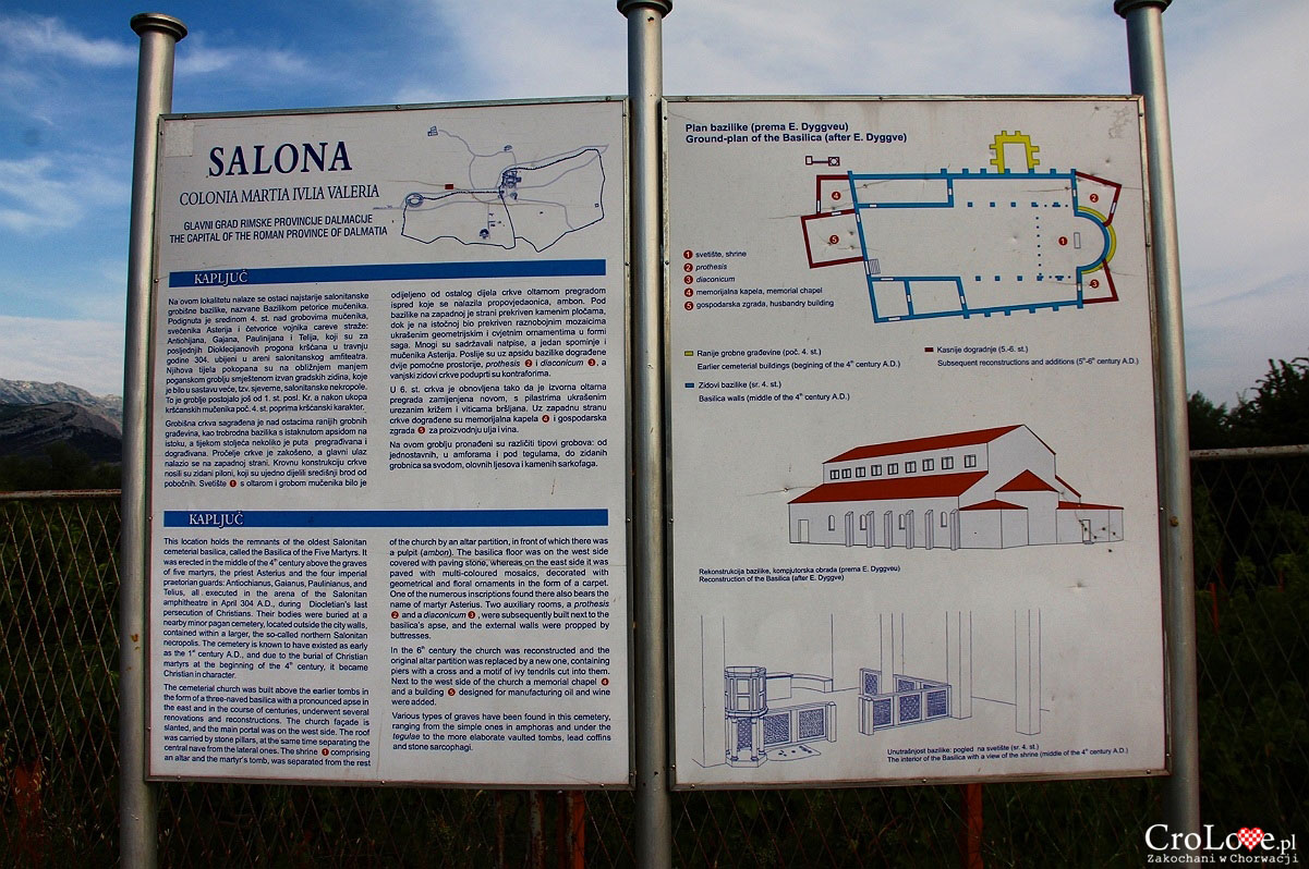 Plan Kapluć, teren Bazyliki w Salonie