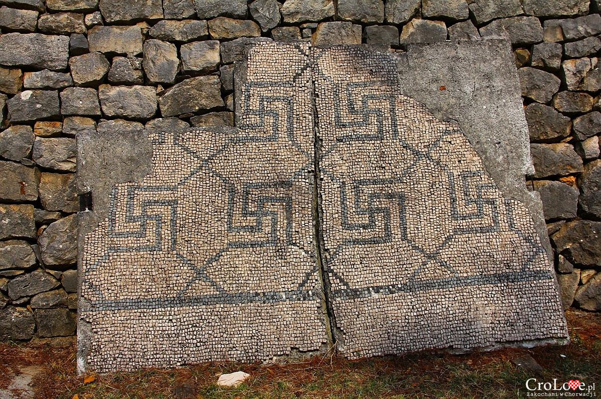 Zachowana mozaika w Manastirine w Salonie