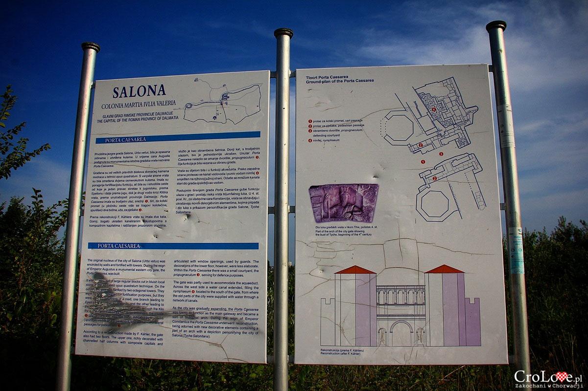 Plan Porta Caesarea - wschodniej bramy Salony