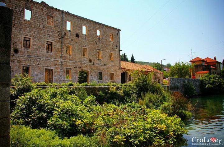Ruiny młyna na rzece Ombla