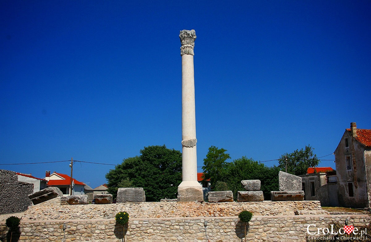 Ruiny rzymskiej budowli w Nin