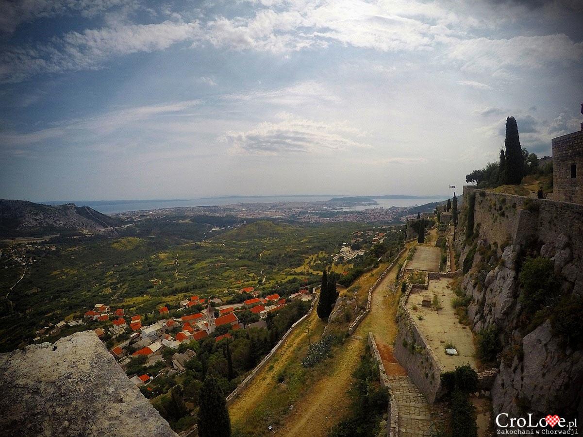 Panorama Splitu widziana z Twierdzy Klis