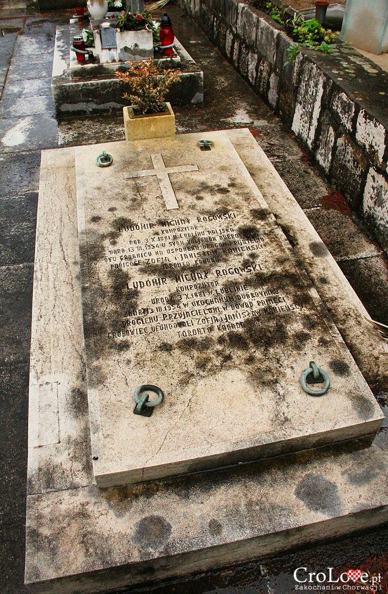 Grób Ludomira Michała Rogowskiego na cmentarzu miejskim w Dubrowniku