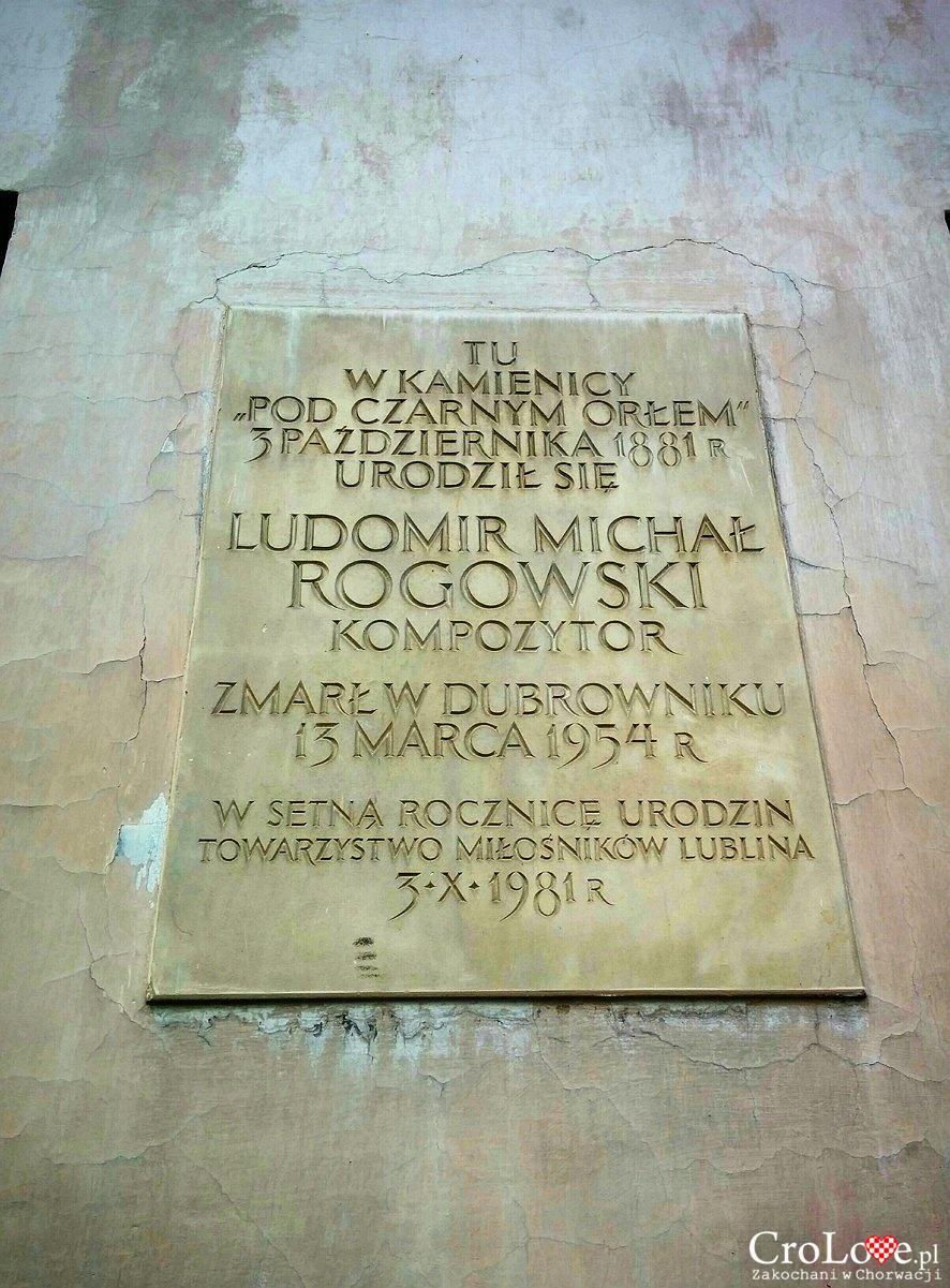 Tablica pamiątkowa na kamienicy Pod Czarnym Orłem w Lublinie