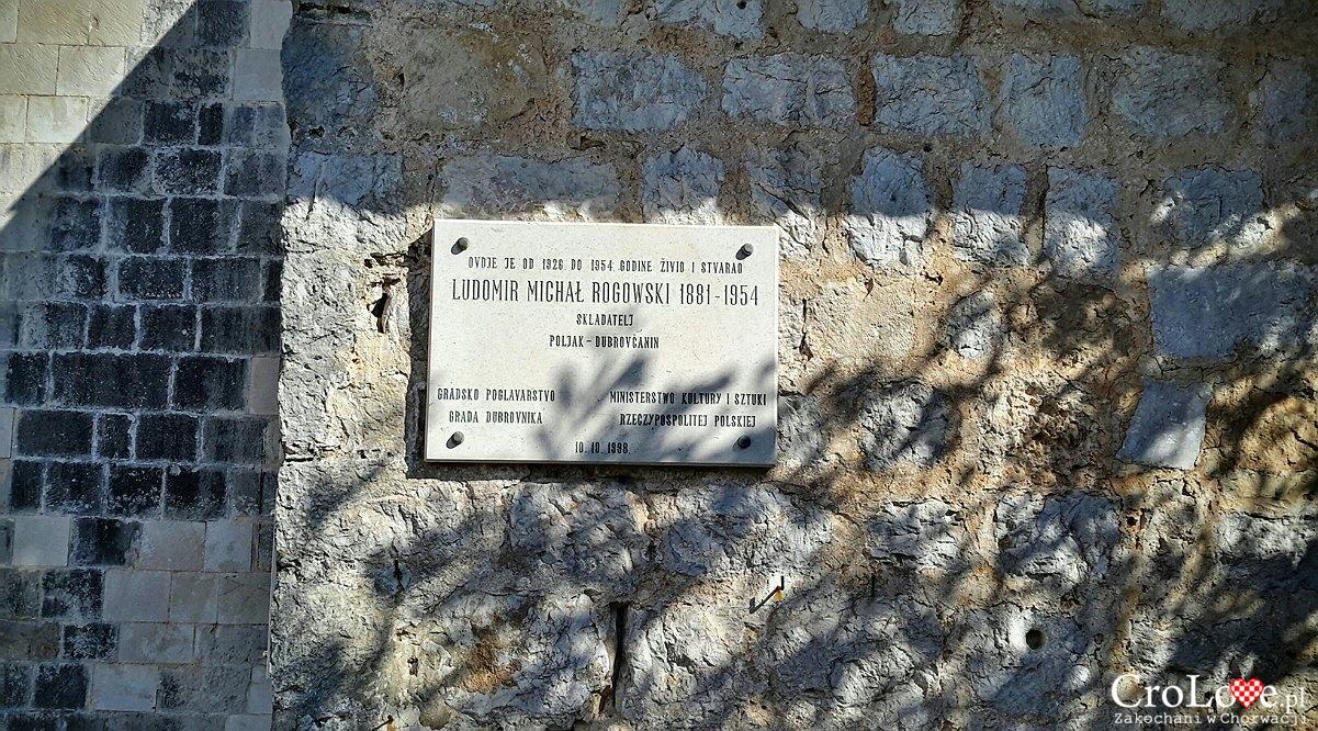 Tablica na Klasztorze Św. Jakuba w Dubrowniku