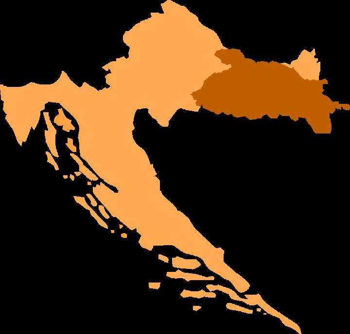 Slawonia na mapie