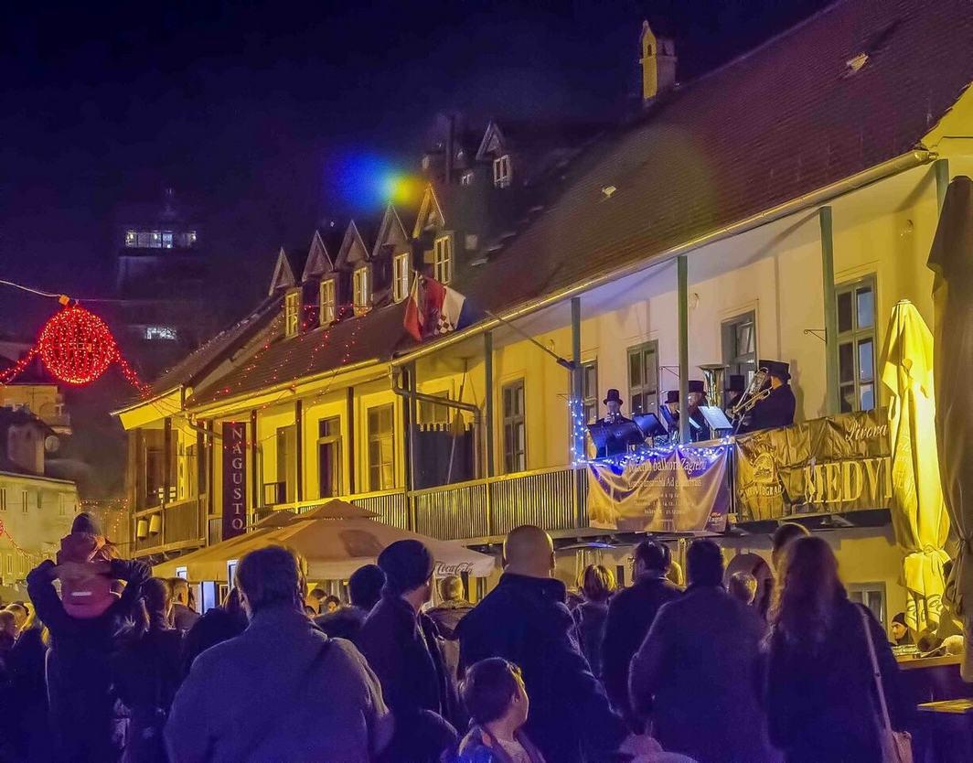Atrakcje muzyczne takie jak koncerty na balkonie w Zagrzebiu