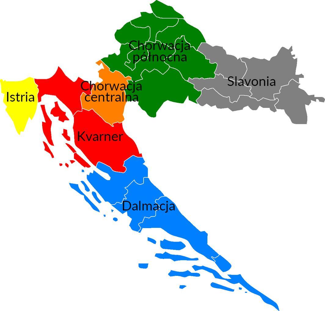 Regiony w Chorwacji