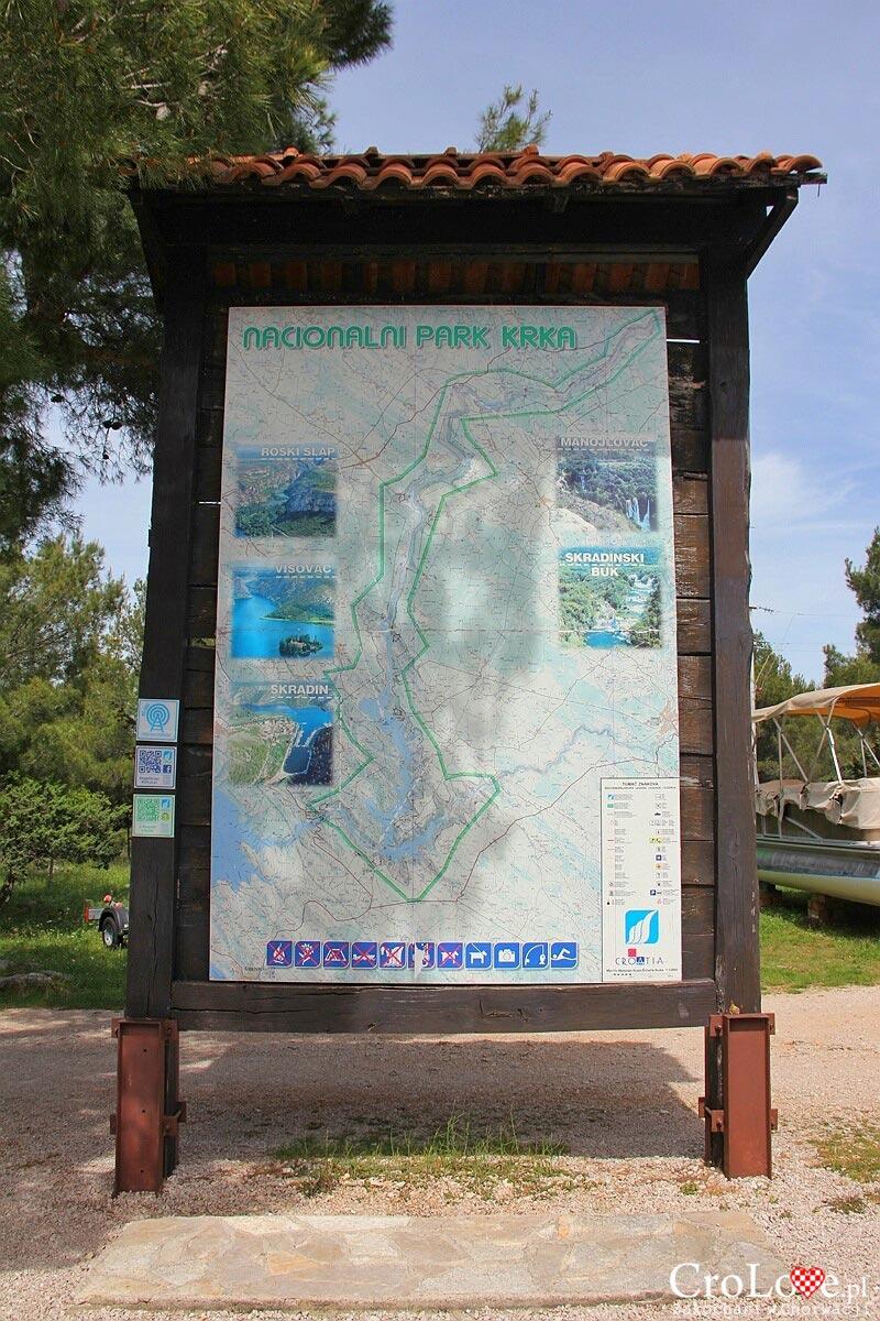 Mapa - Park Narodowy Krka