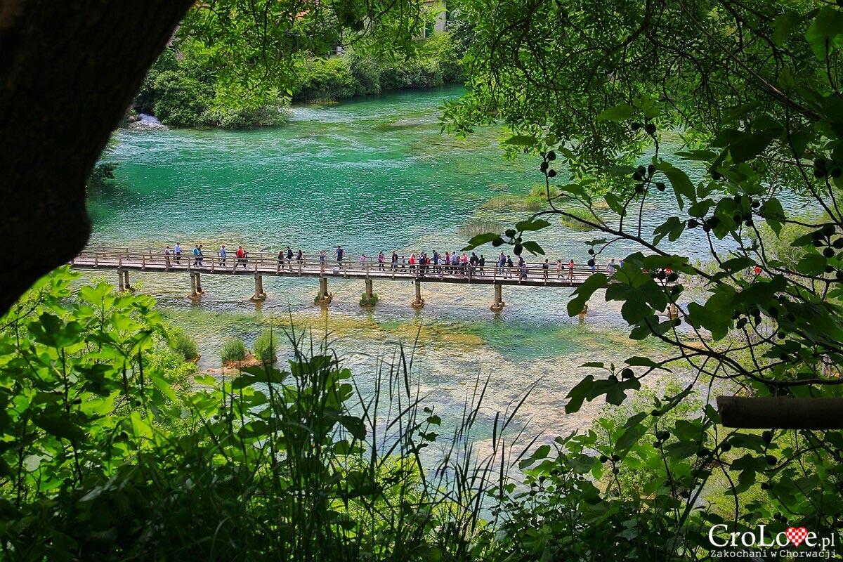 Ścieżka widokowa przy wodospadzie Skradinski Buk