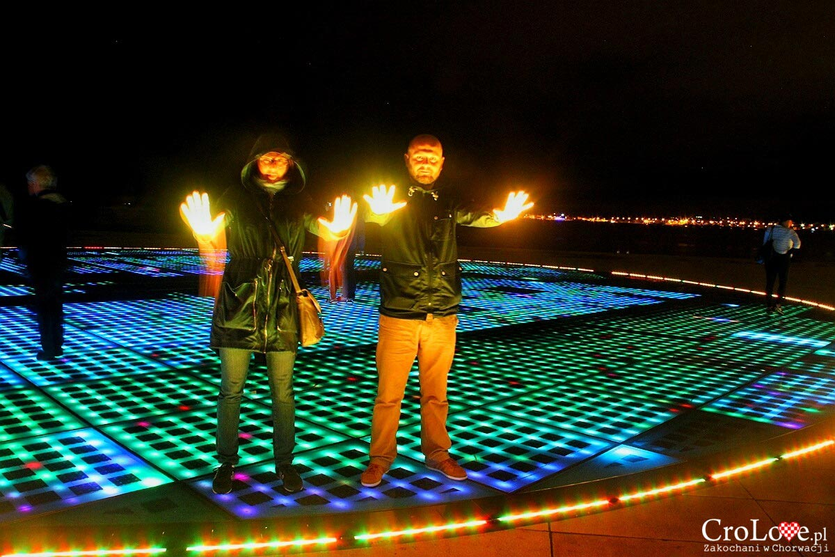 Pozdrav Suncu - Zadar nocą