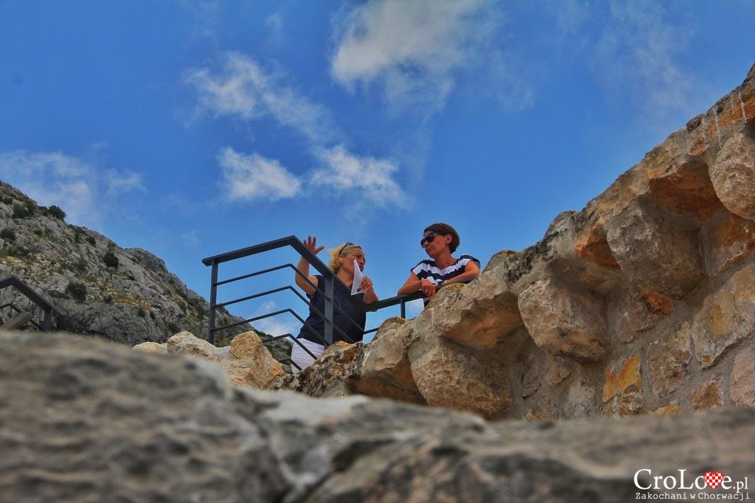 Paulina i Aga w Twierdzy Sokol Grad w Dunave