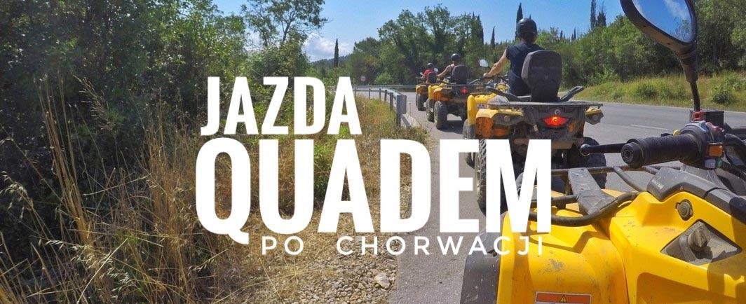 Jazda Quadem ATV po regionie Konavle w Chorwacji