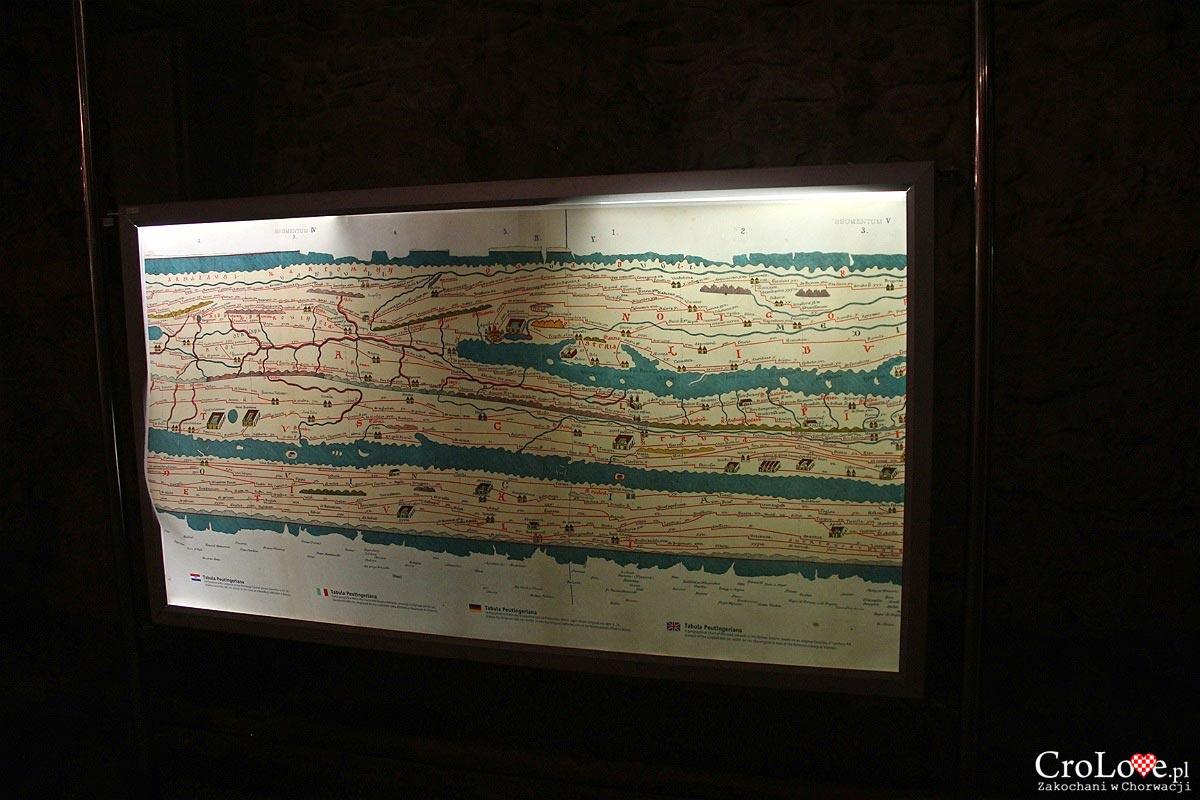 Starożytna mapa - Amfiteatr w Puli