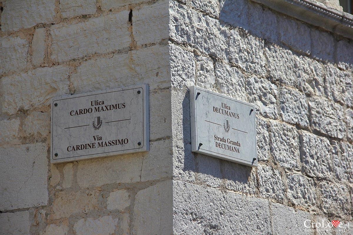 Ulice Cardo Maximus i Decumanus w Poreču