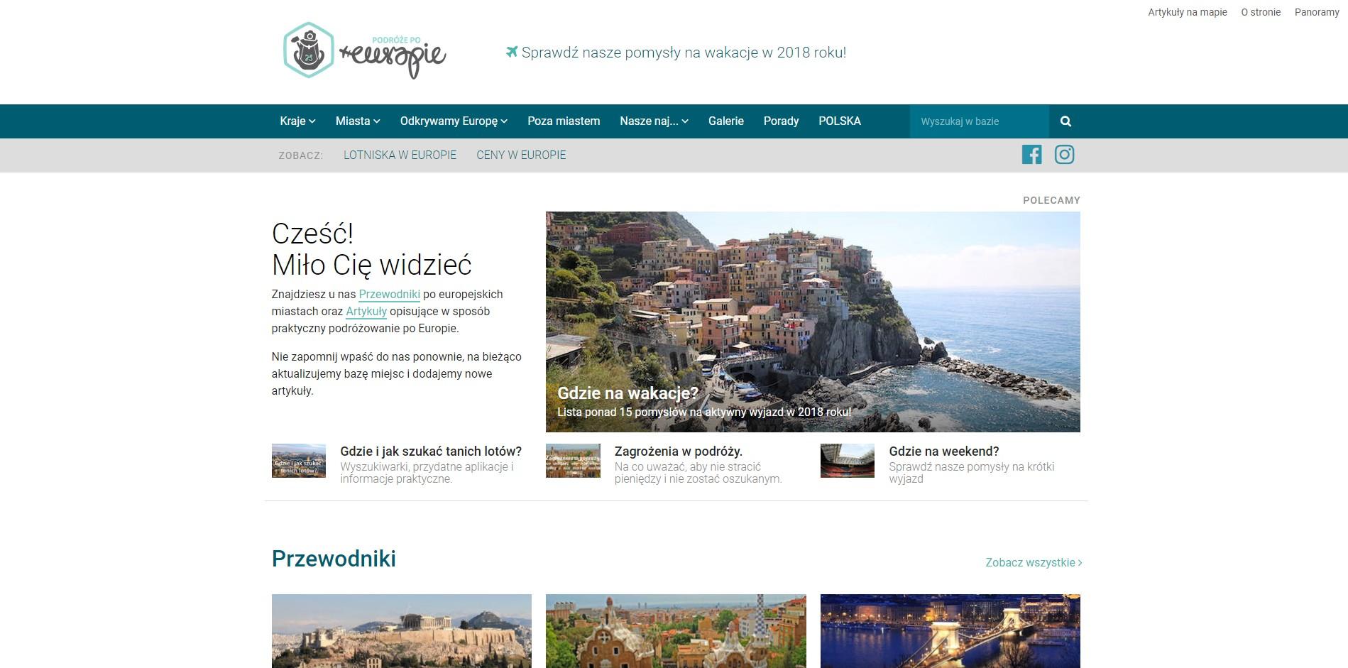 Blog podróżniczy podrozepoeuropie.pl