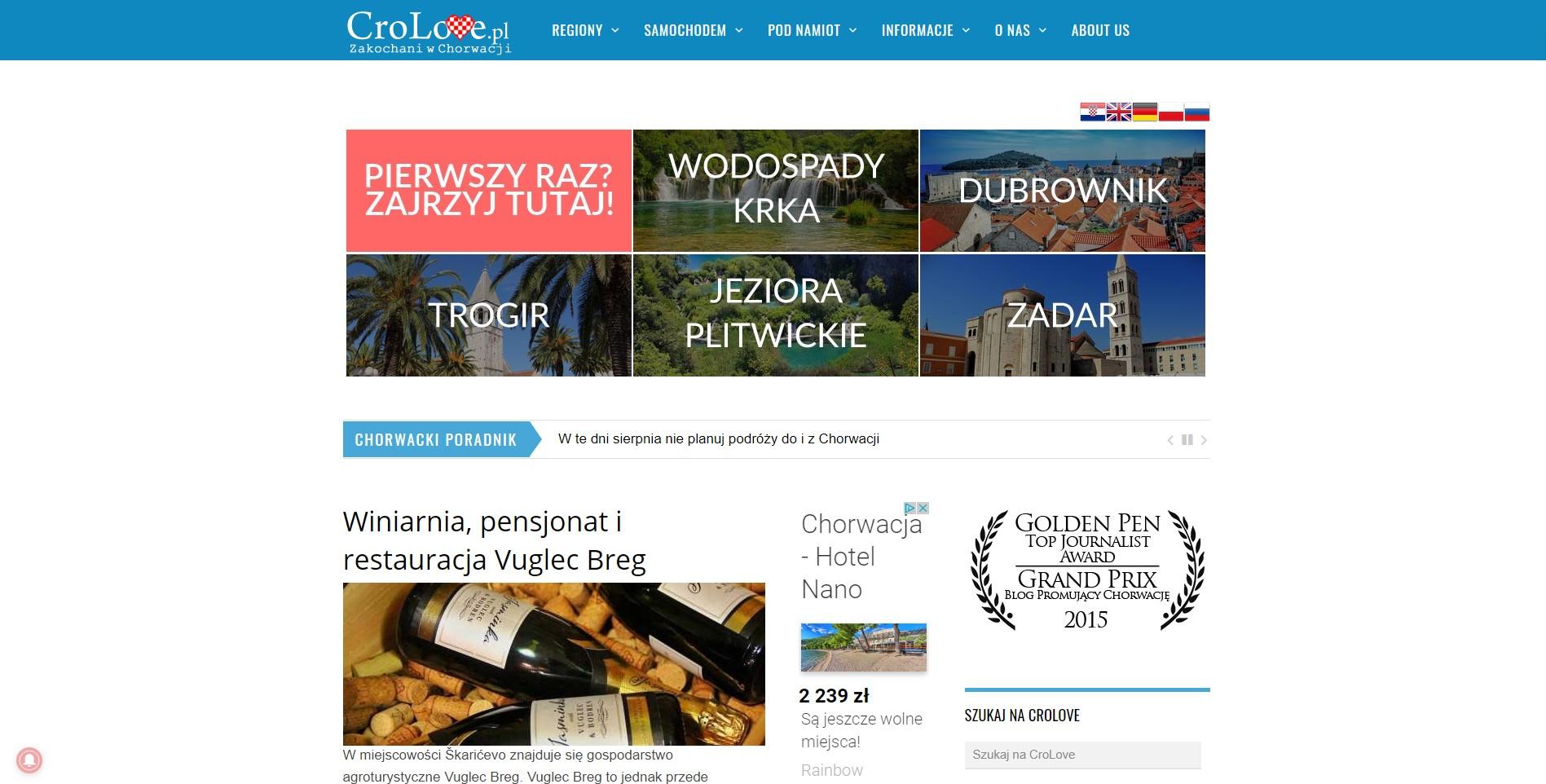 Blog podróżniczy crolove.pl