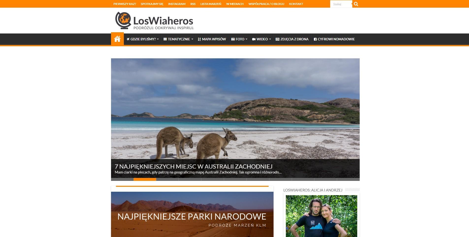 Blog podróżniczy loswiaheros.pl
