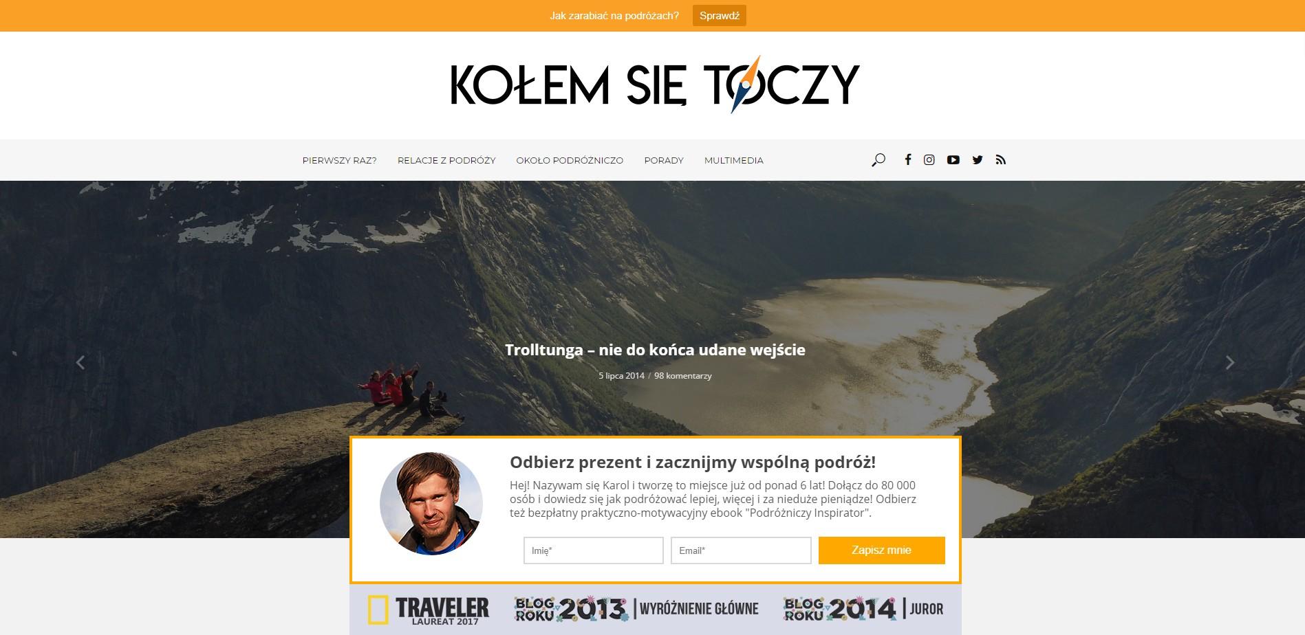 Blog podróżniczy kolemsietoczy.pl