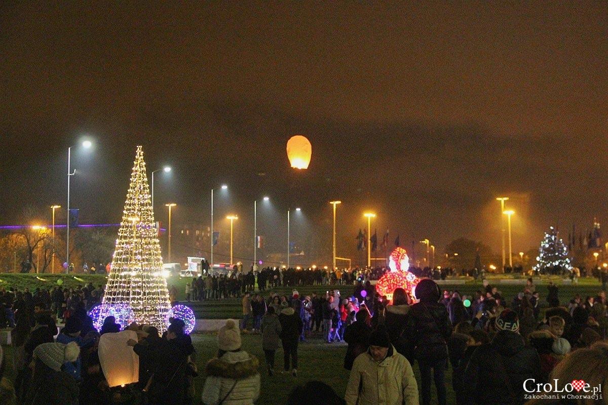 Puszczanie lampionów w Zagrzebiu
