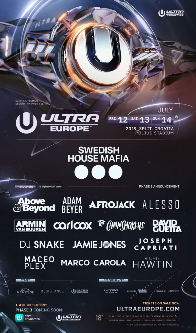 Ultra Music Festival Europe Split Chorwacja 2019