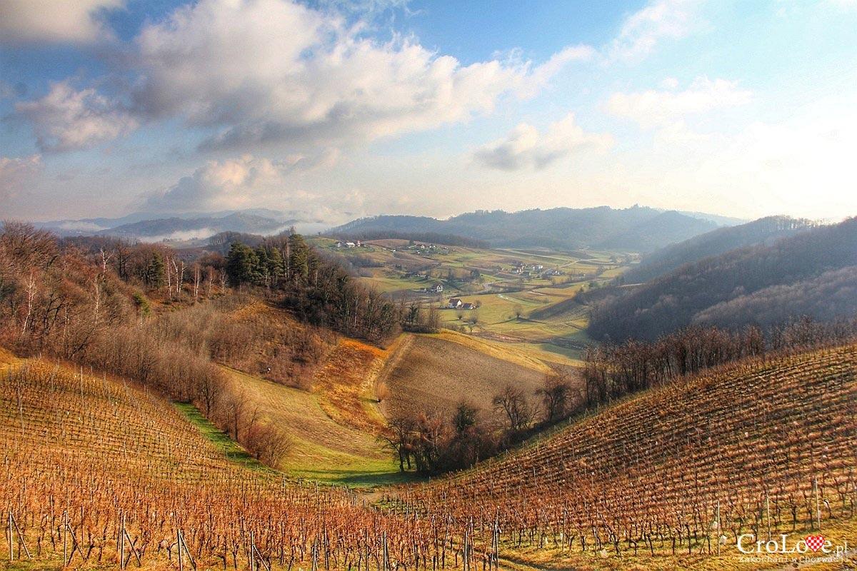 Panorama regionu Zagorje z Vuglec Breg