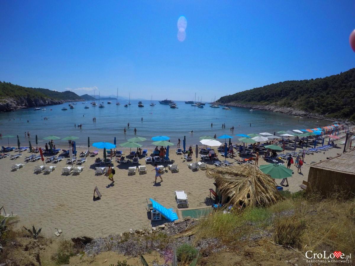 Piaszczysta plaża Sunj na wyspie Lopud