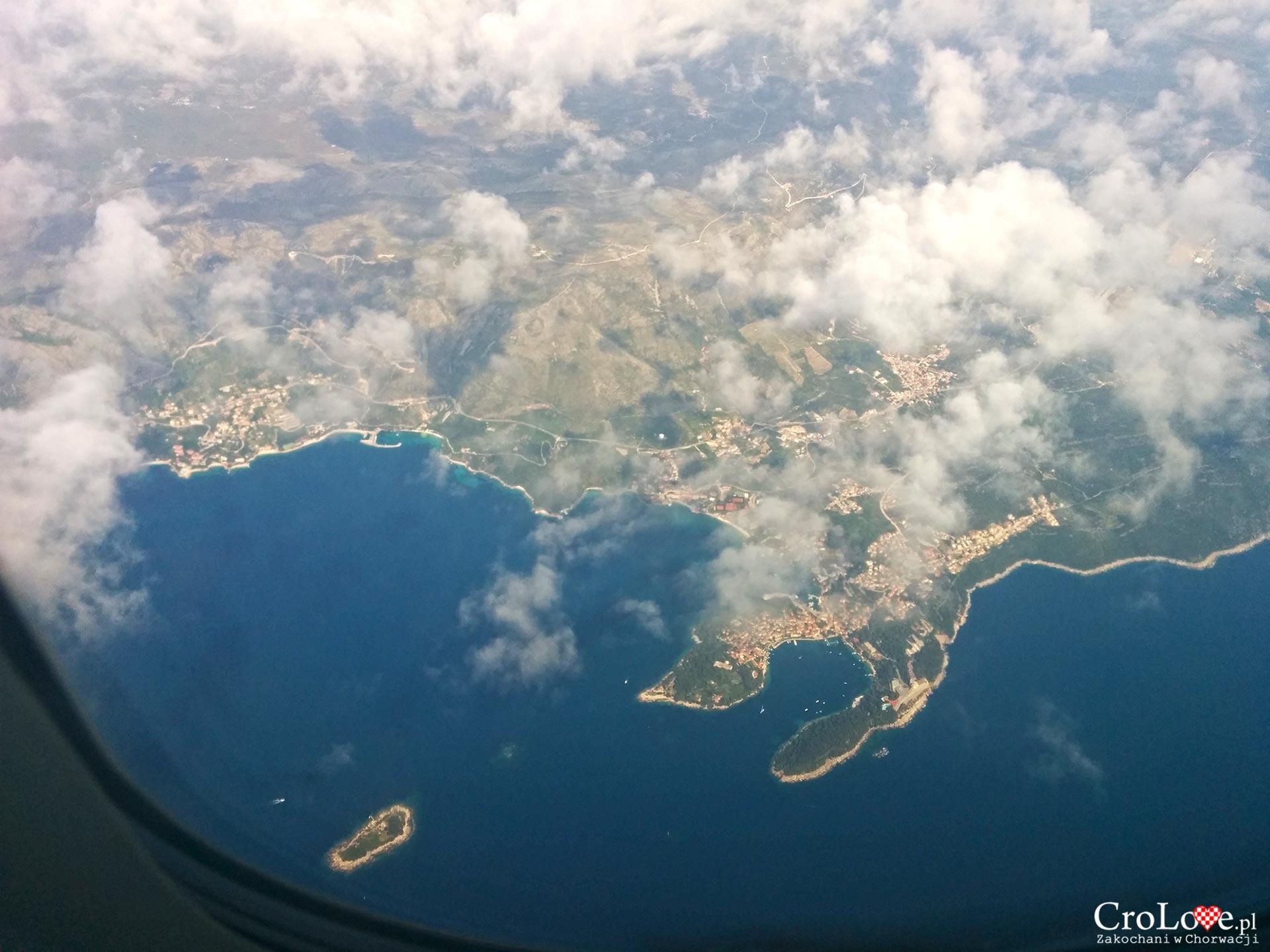 Widok z samolotu na Cavtat