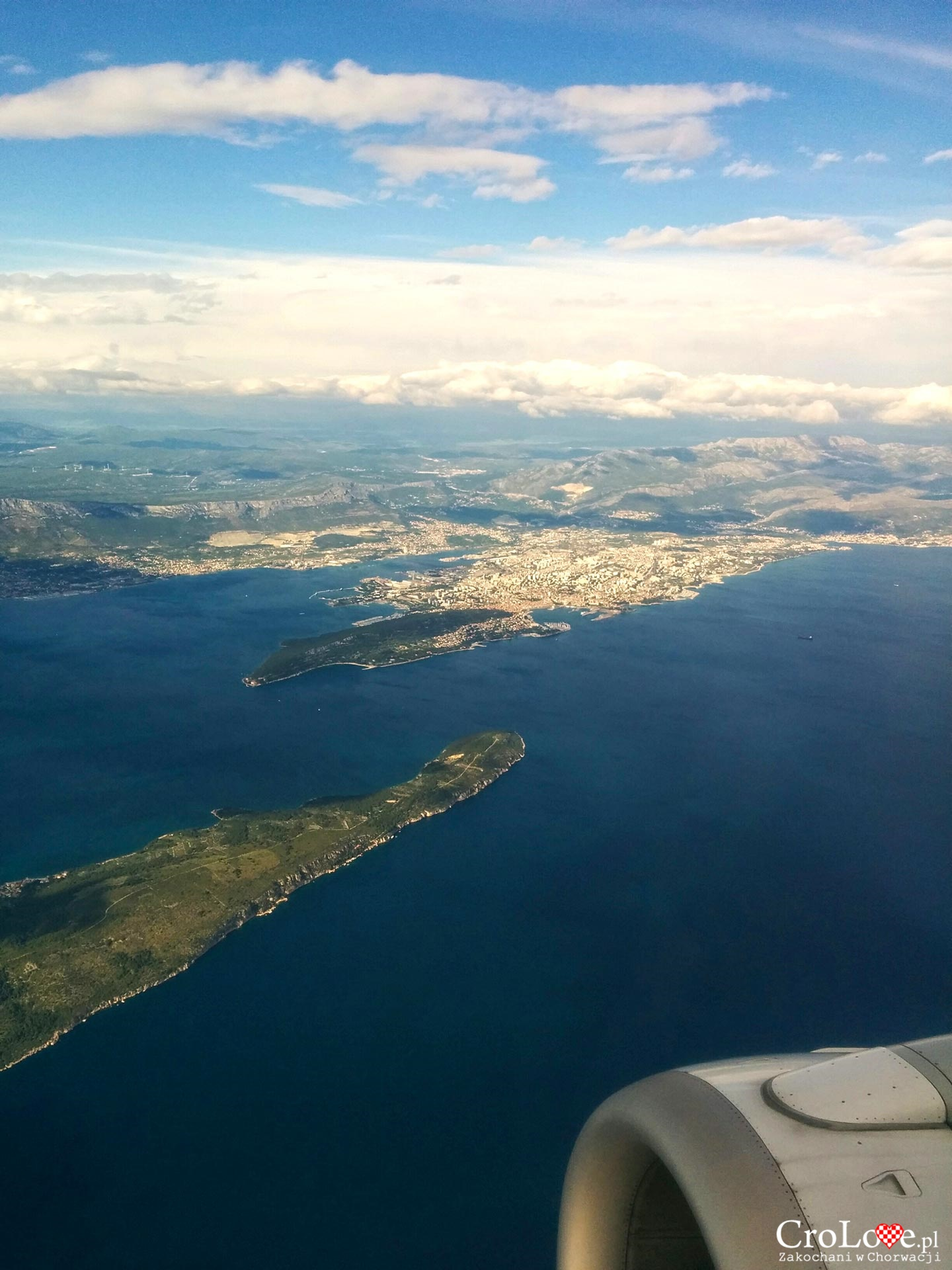 Widok z samolotu na Split