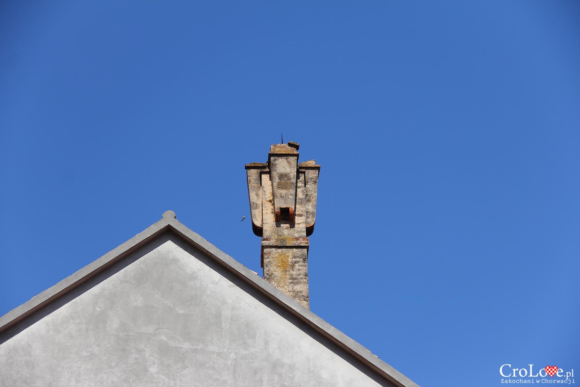 Charakterystyczny komin w Vis