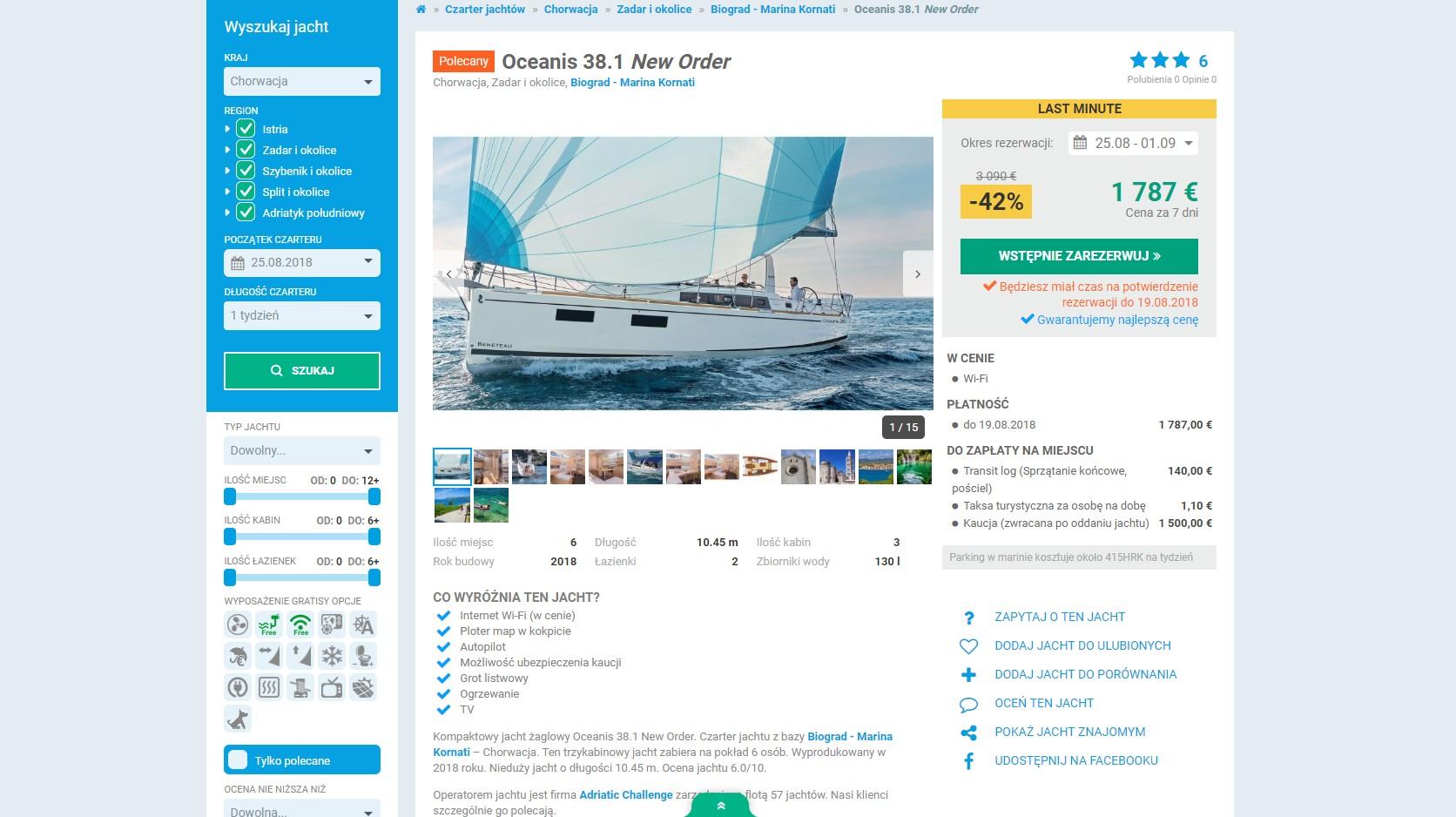 Czarter jachtów YACHTIC.com