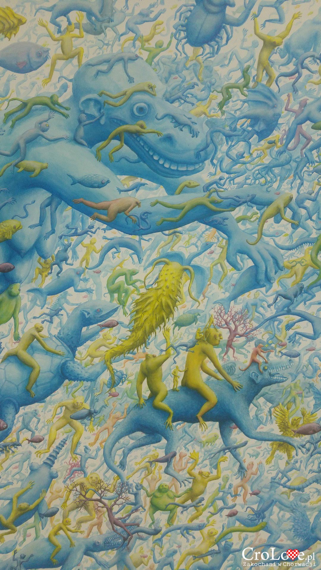 Obraz w pracowni artystycznej w Osijeku. Autor Vice Tomasović